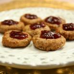 Sweet and lovely jam thumbprint cookies