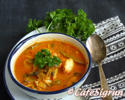 A warming soup with a lovely ocean aroma